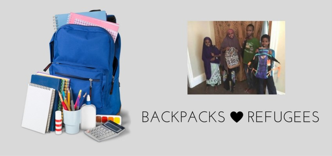 Backpacks for refugees