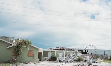 Home destroyed by Hurricane Dorian